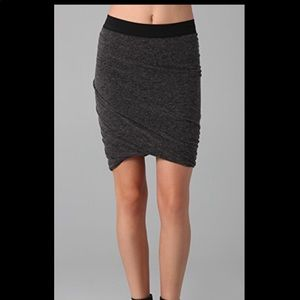 T by Alexander wang wrap knit gray skirt